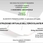 Ricostruzione virtuale dell'idrovolante RE8000 - Baldassarri