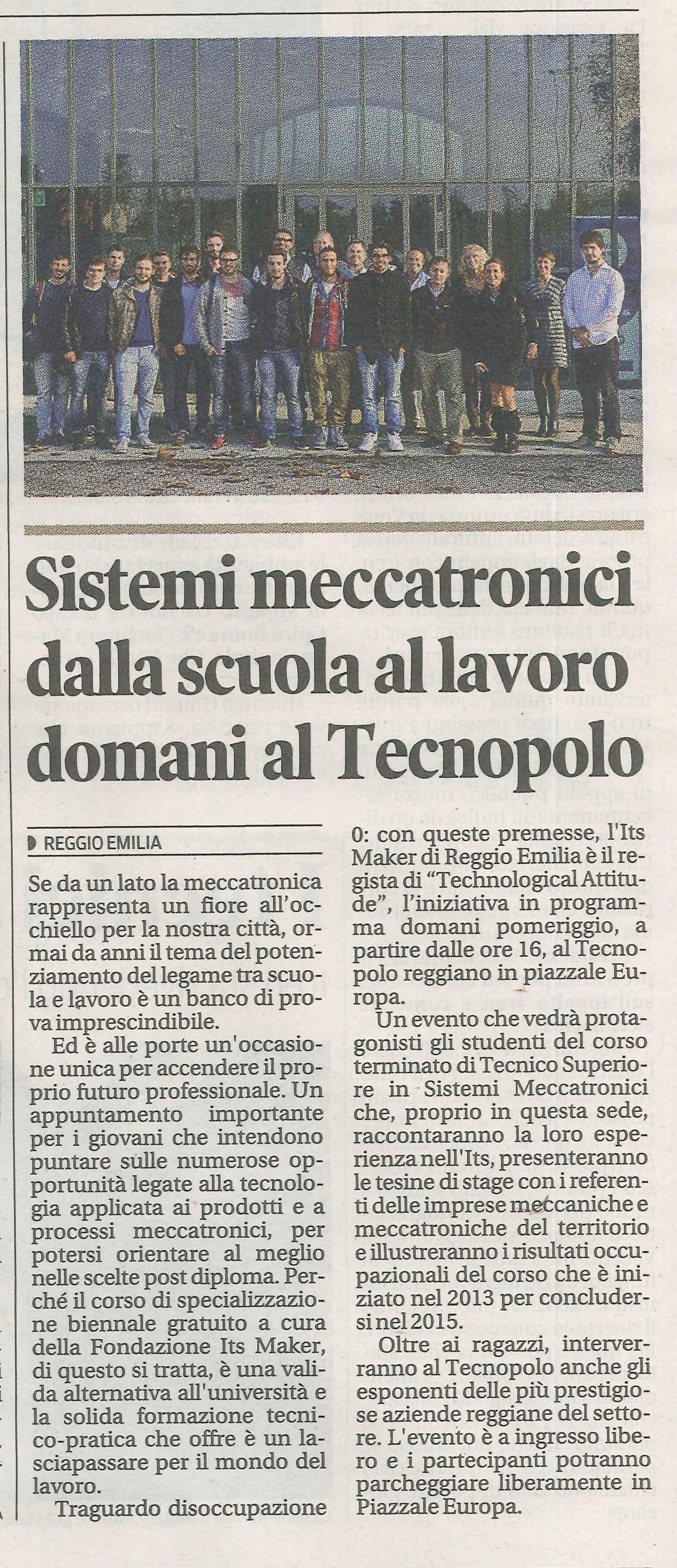 Tecnolo Reggiane - Meccatronica
