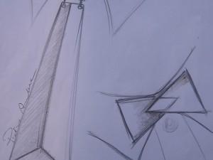 Studio Pietro Amendola - Bozzetto Cravatta Neo-Futurista realizzata con Metallo Reggiane
