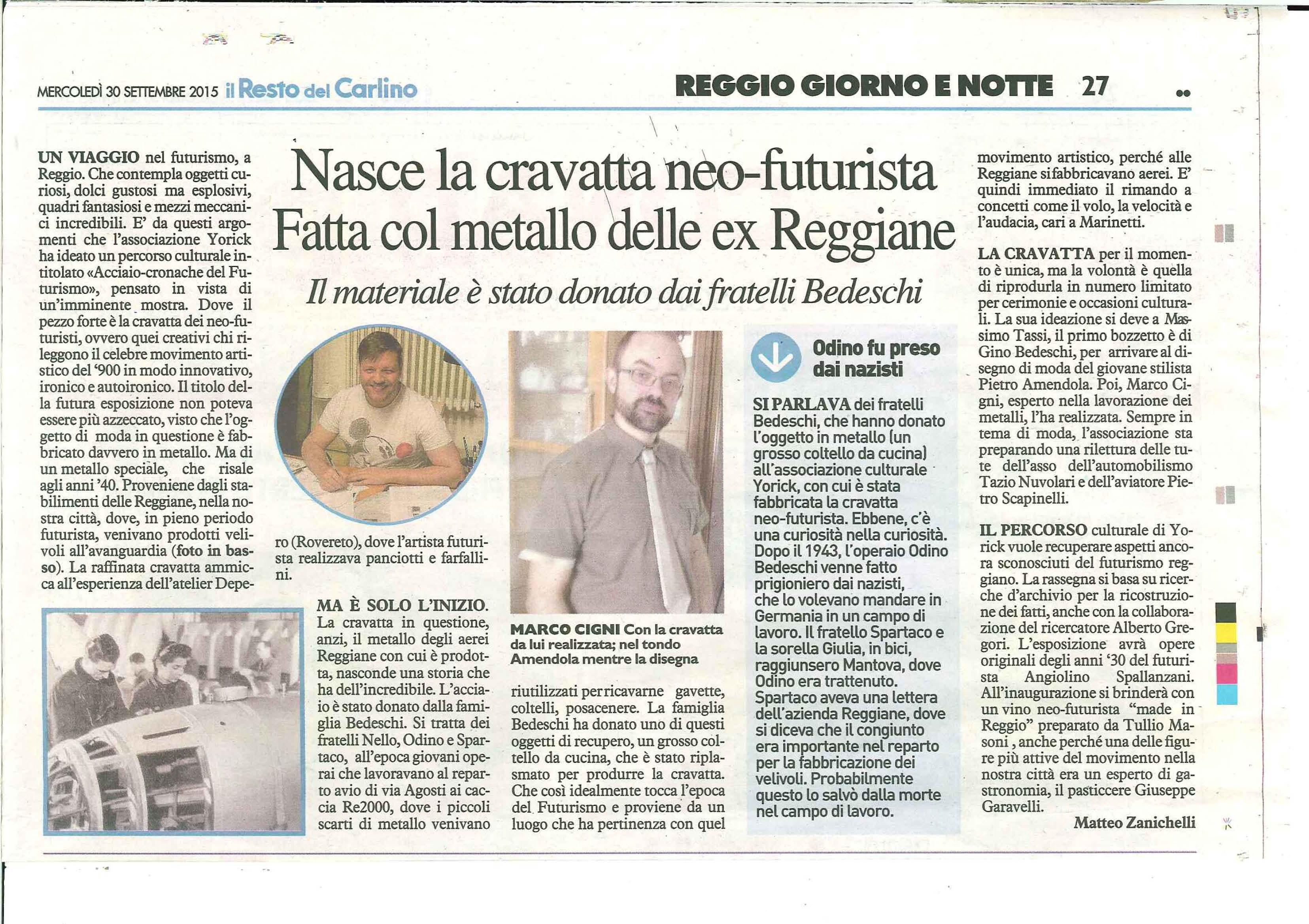 Officine Meccaniche Reggiane - Cravatta Neofuturista Reggiane