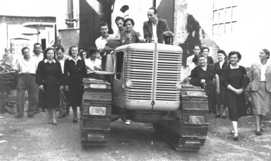 Officine Meccaniche Reggiane - Giacomina sul trattore R60