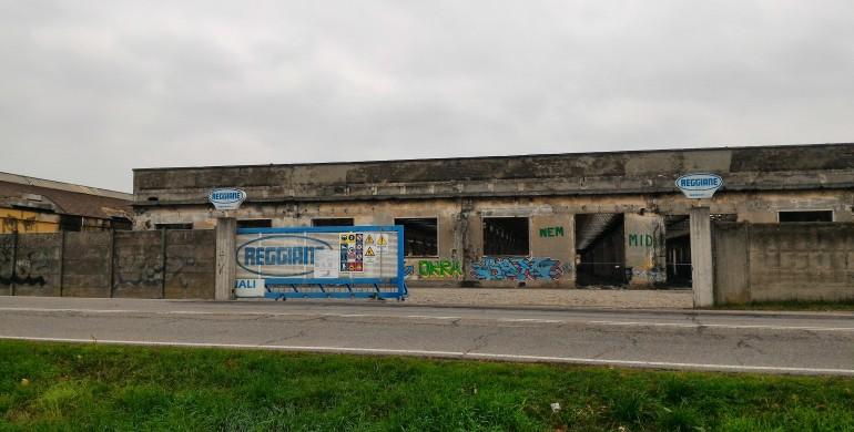 EX OFFICINE REGGIANE: MAXI SCHERMO DI 30 METRI PER SEGUIRE I LAVORI DI RIQUALIFICAZIONE